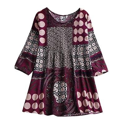 Boomboom 2020 Autumn National Style Cotton Linen Shirts Women Plus Size Tunic Tops Blouse: Clothing