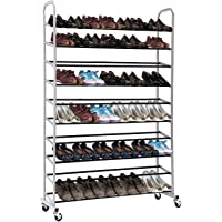 MaidMax 10-Tier Rolling Shoe Rack
