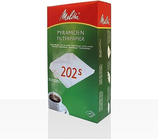 Melitta Pyramiden Filterpapier Filtertüten Pa SF 202 S 100 Stk für zb M 170 M