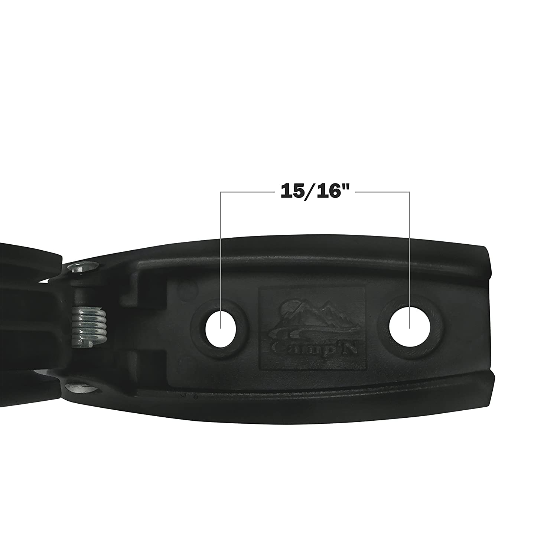 Clip Holder Motor Home Baggage Doors Black CampN -12 Pack- Baggage Door Catch Trailer for RV Camper Camp/'N Products