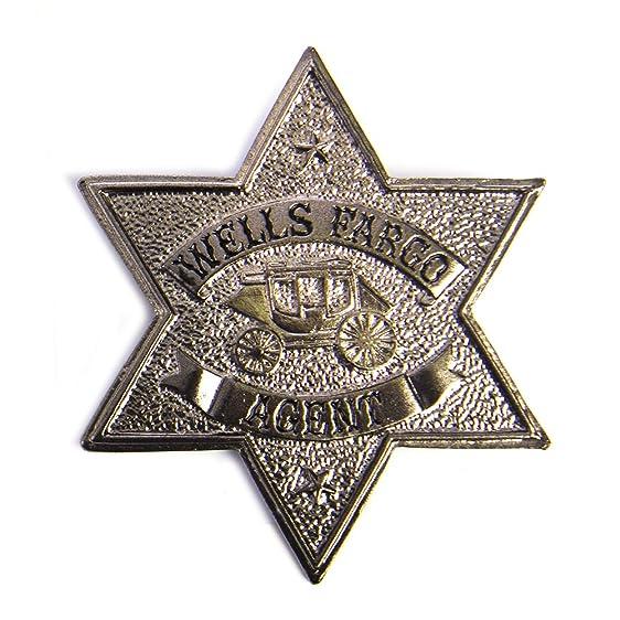 Amazon Hms Mens Wells Fargo Agent Badge Pin Back Silver