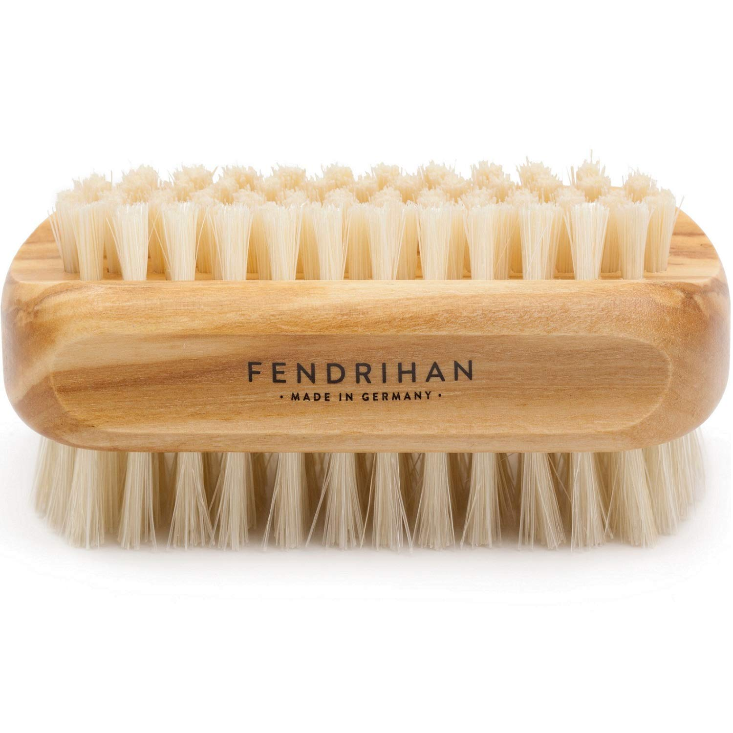 Genuine Boar Bristle Nail Brush with Real Olive Wood Handle MADE IN GERMANY by Fendrihan