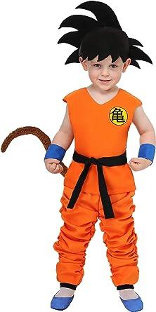Disfraz De Dragon Ball Para Niños 4t Anaranjado Clothing