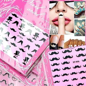 Amazon Eft 18 Sheets Cute 3d British Nail Art Design Style