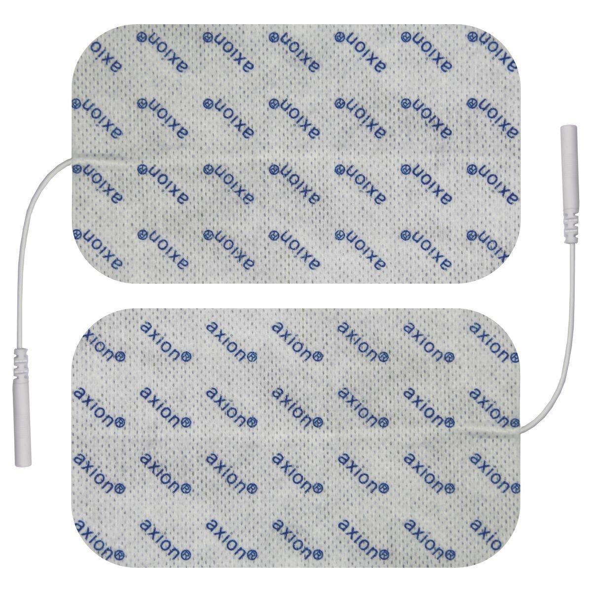 2 electrodes 12 x 7 cm /Électrodes pour /électrostimulation TENS EMS pads patch pour /électrostimulateurs TENS et EMS avec connexion /à fil 2 mm