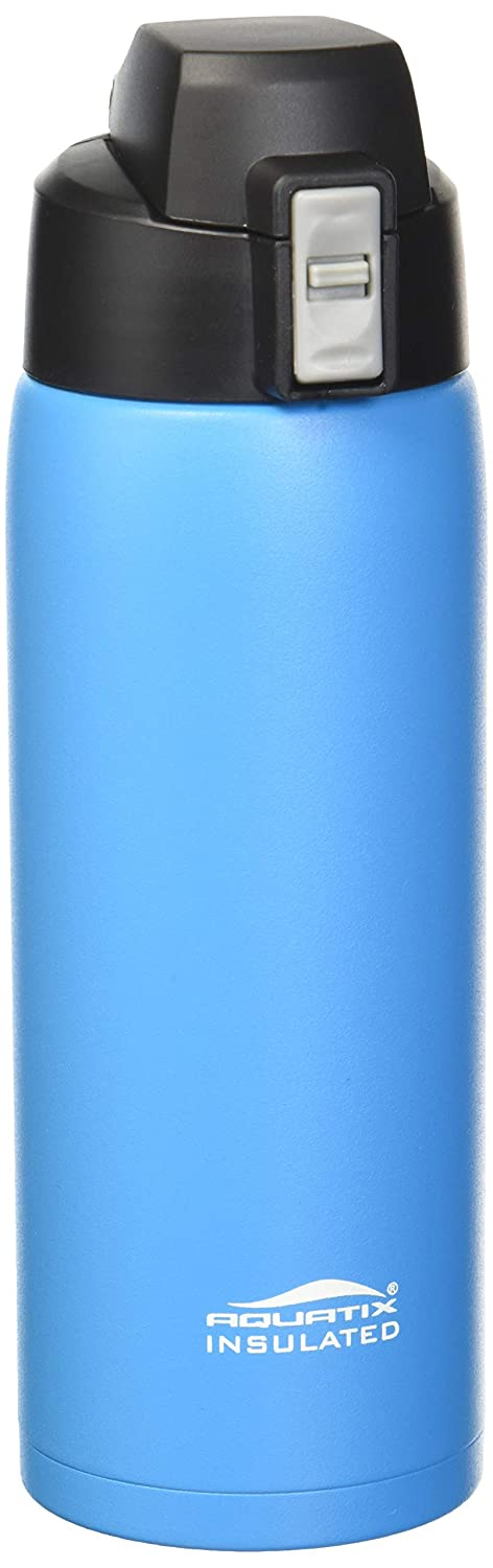 Aquatix Sea Mist Blau Insulated FlipTop Ultimate Sport Bottle 21 ounce Pure Stainless Steel by Aquatix FlipTop Sport Bottle