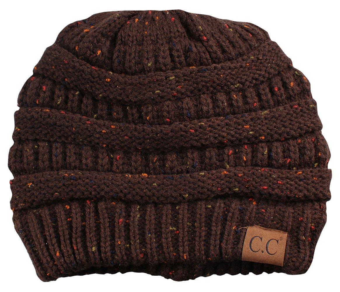 Funky Junque CC Confetti Knit Beanie - Thick Soft Warm Winter Hat - Unisex 1 Dove Grey (2 Pack) H-6033-2-0676-FJ