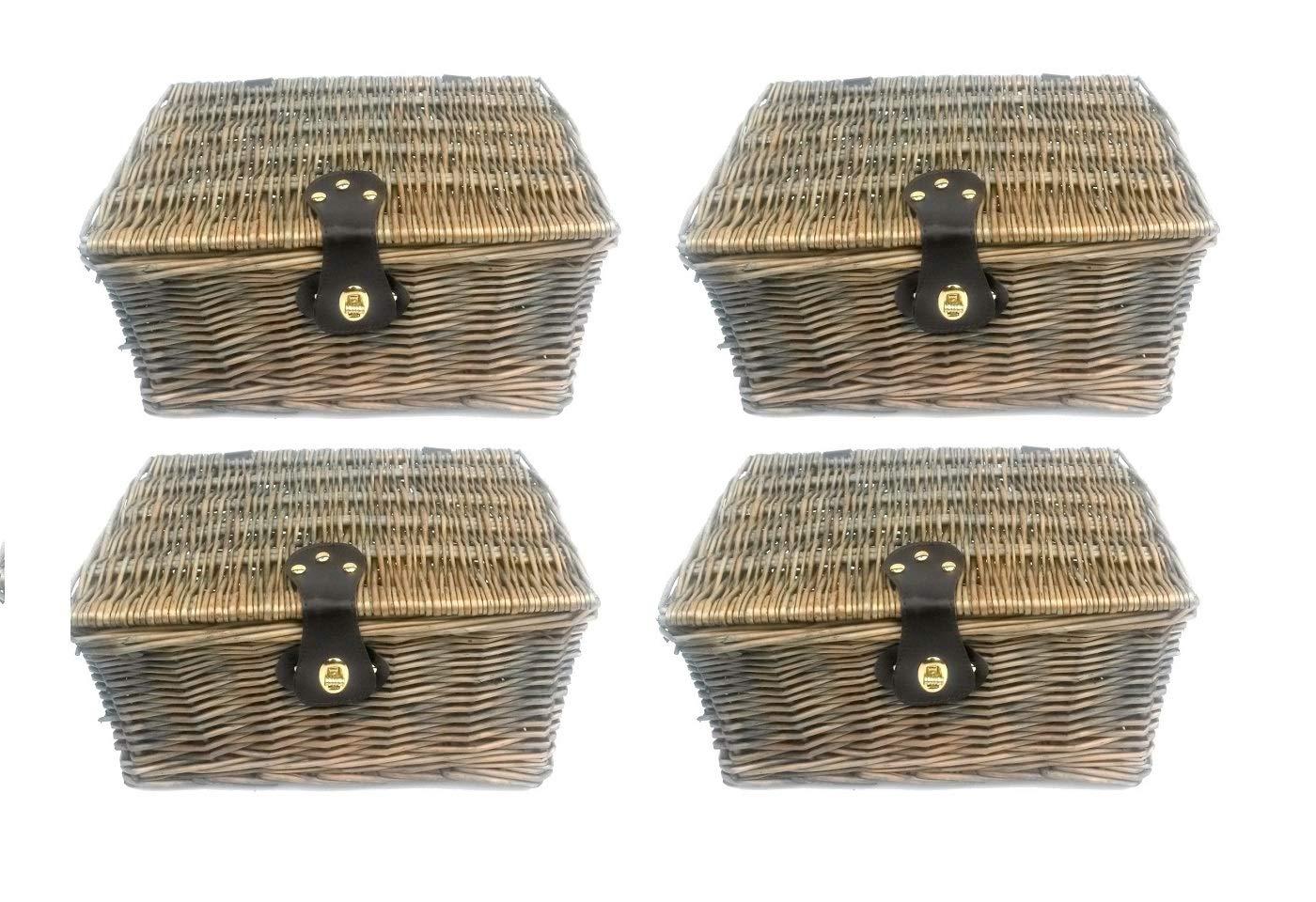 Topfurnishing Starkes Oak Flechtweide Picknick Geschenk Aufbewahrung Weihnachten Leere Geschenkkorb Korb - Set of 4 Large B077G869FW Krbe & Koffer Super Handwerkskunst