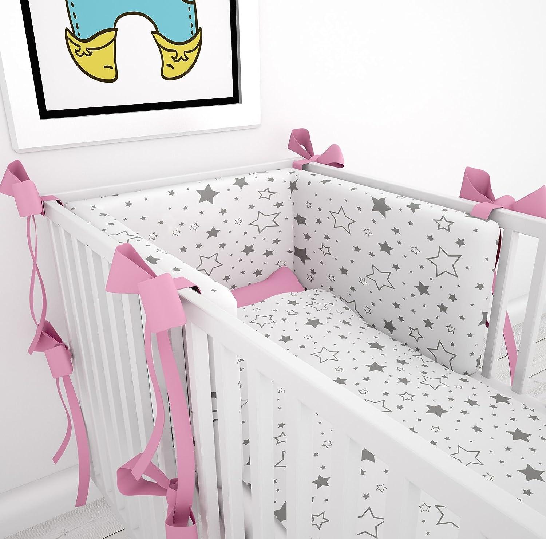 Tour de lit avec schärpen multicolores pour le lit bébé 60x 120cm lit Tour de lit tour de lit tête Protection Nid Klara Brist