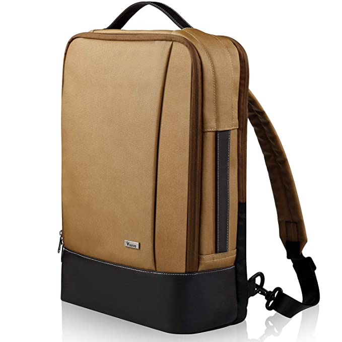 Vintage Waterproof Canvas School College Daypack Bookbags Fashion Back Pack Fits 15.6 Inch Notebook