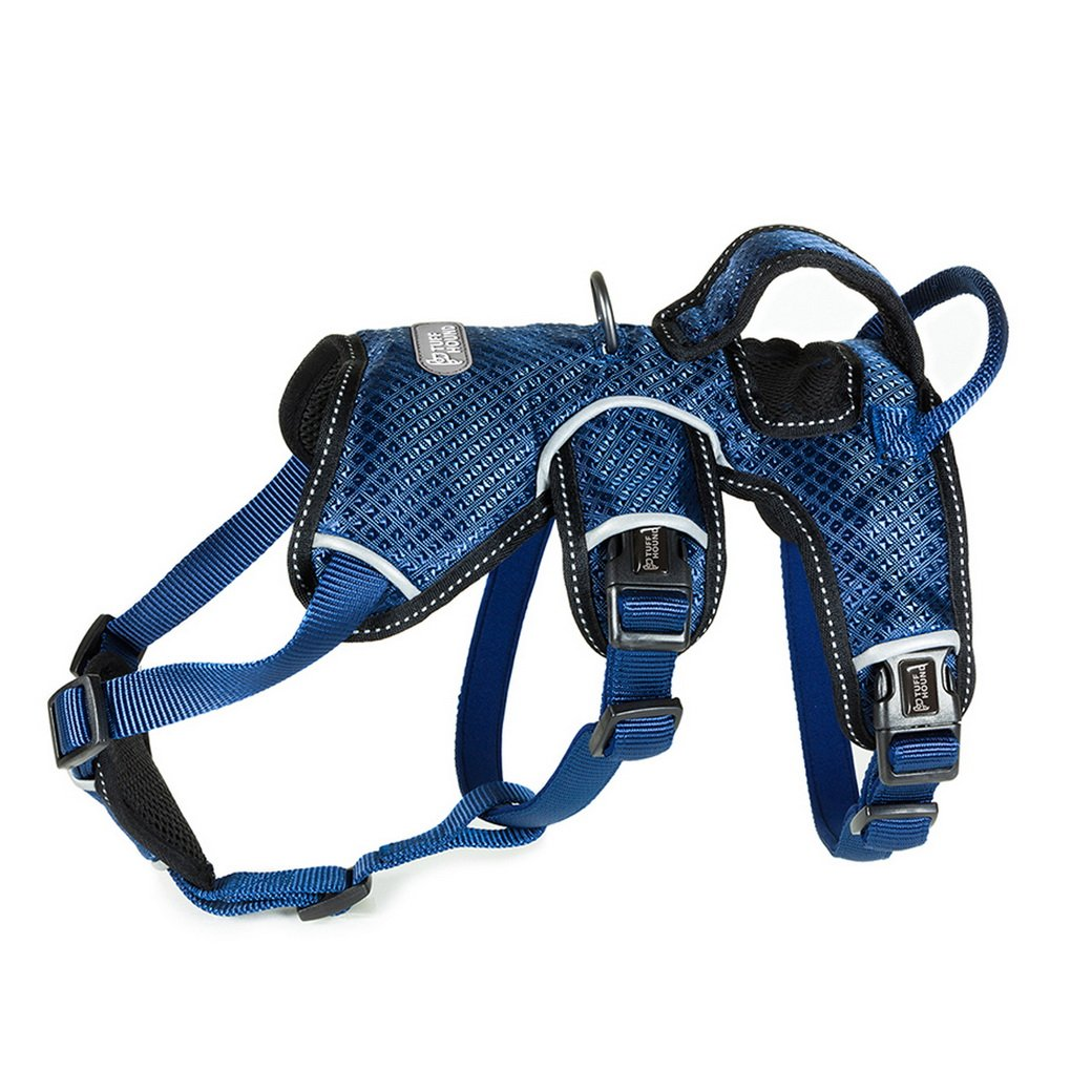 bluee M bluee M Premewish Pet Dog Vest Safe Harness Adjustable Reflective Breathable Mesh Vest No Pull Dog Harness for Small Middle Large Dogs(bluee,M)