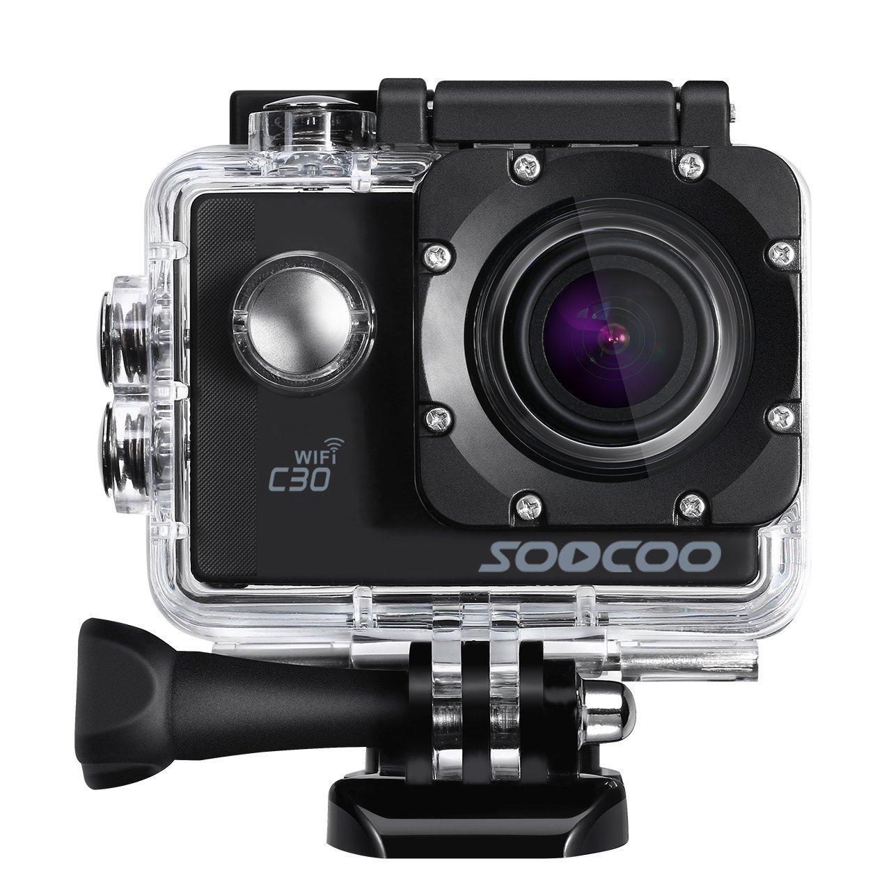 Opta SAC-003, Mini Sports Action Camera With Wifi - 4K 1080P Full Hd, G Sensor, Hdmi Hd Output- (Black Color, 12 Accessories)