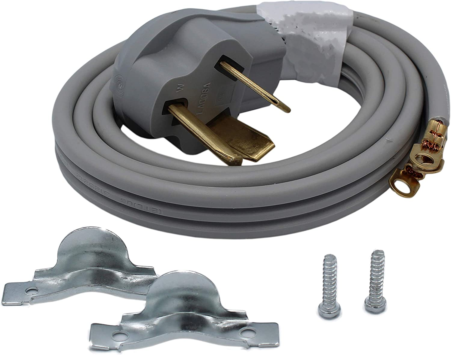 Supplying Demand 3 Prong Wire Dryer Power Cord 30 AMP 250 Volts 10 AWG Compatible With GE, LG, Frigidaire, Whirlpool, Maytag, Samsung (4 Foot)