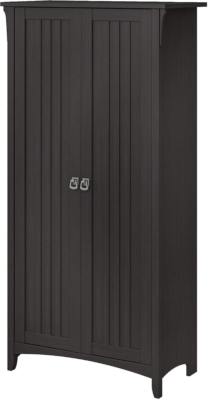Bush Furniture Salinas Bathroom Storage Cabinet with Doors in Vintage Black
