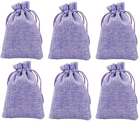 Venxic - Pack de 6 bolsitas secas de lavanda, bolsas de bolsita de flores de lavanda natural para cajones y armarios, aroma fresco, ambientador de coche de hierbas aromáticas: Amazon.es: Hogar