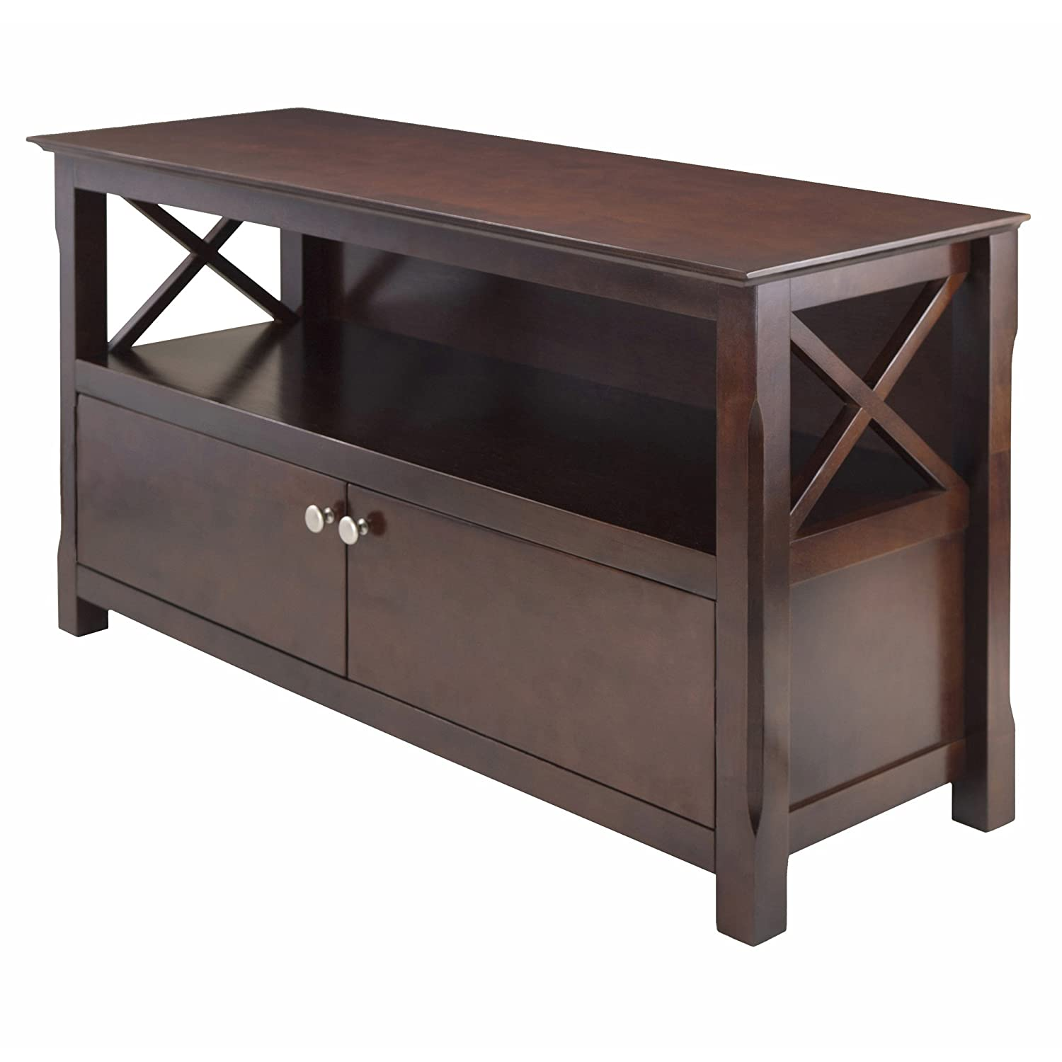 Amazon Com Winsome Wood Xola Tv Stand Kitchen Dining
