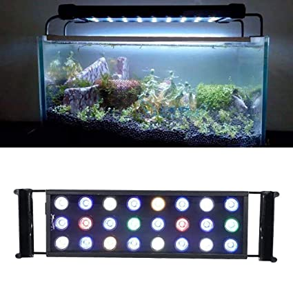 Aquariums & Tanks Efficient Led Aquarium Lighting 30w Fish Tank Lights Dimmable Coral Reef Saltwater Lamp