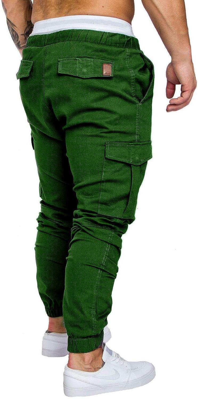 FGFD Pantaloni Uomo Casual Sportivi Pantaloni Cargo con Elastico Chino Eleganti Trousers Trekking Militari Pants