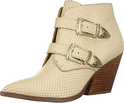 Franco Sarto Womens Granton Leather Pointed Toe Ankle Fashion Boots