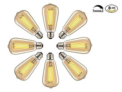 Vintage Edison Leuchtmittel, 60 W Dimmbar Industrie Anhänger Leuchtmittel  Mit Vintage Antik Stil Design