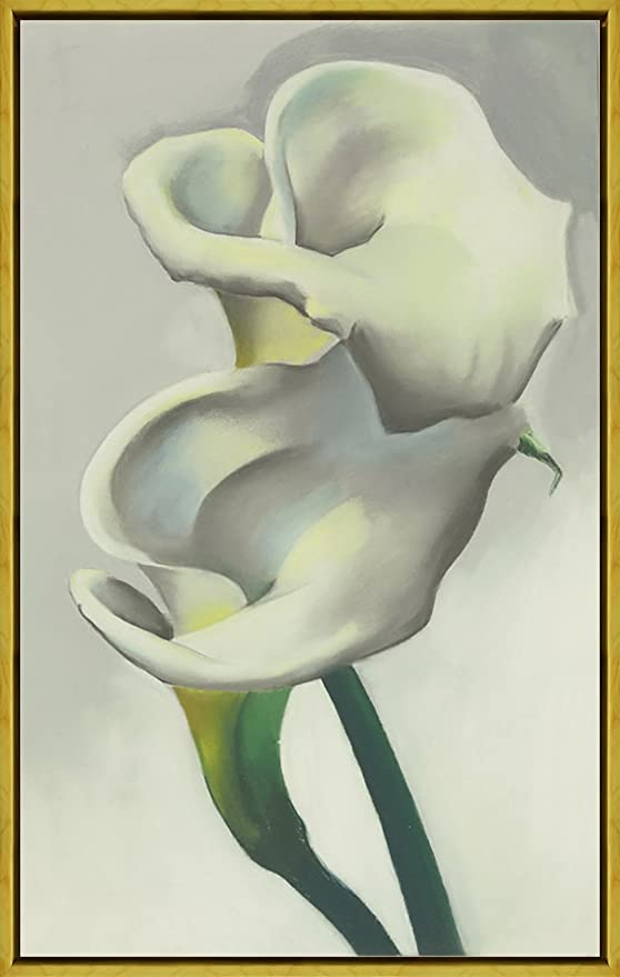 Framed Georgia O/'Keeffe Black Lines Giclee Canvas Print Paintings Poster