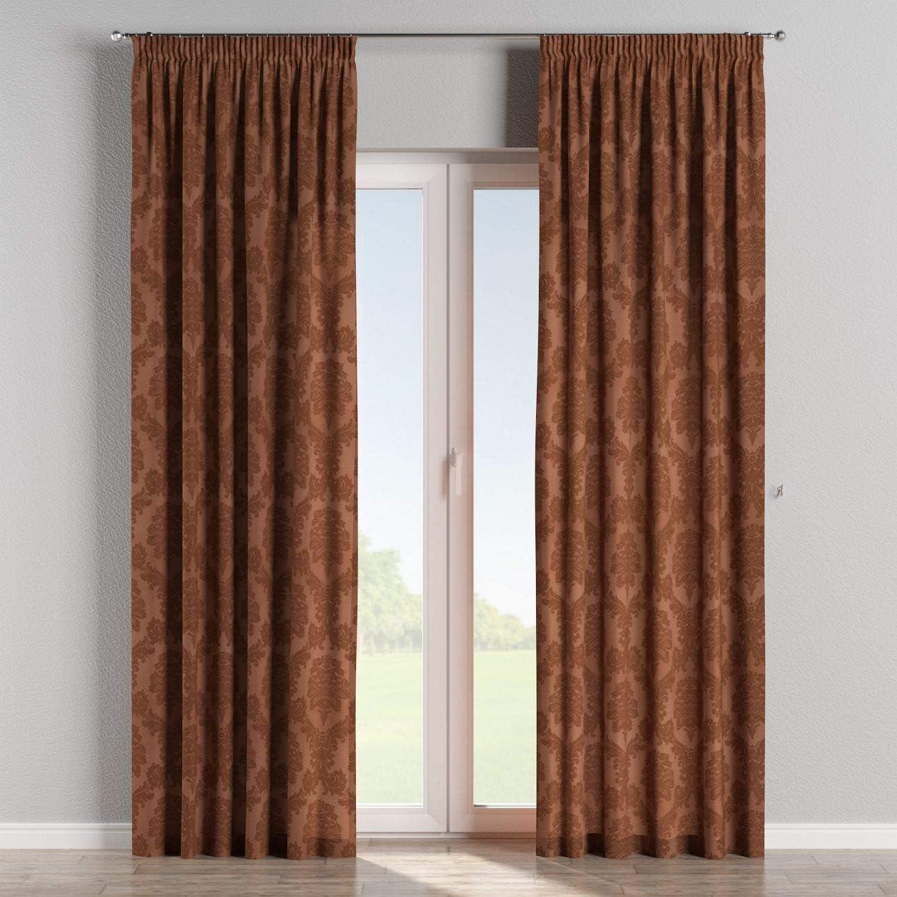 Dekoria Vorhang mit Kr/äuselband Dekoschal Blickdicht 130 /× 260 cm kakao Ma/ßanfertigung m/öglich