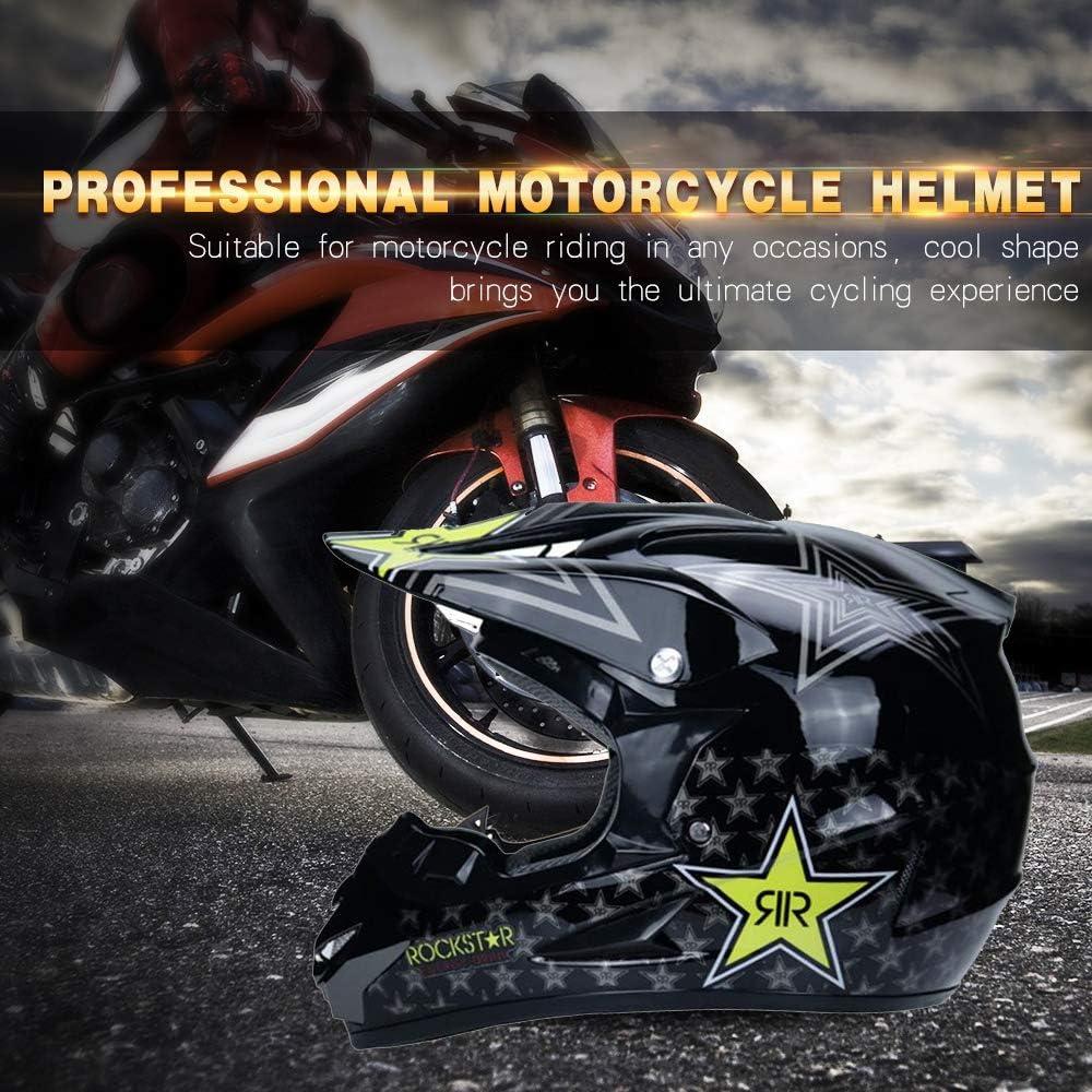 TKUI Moto Motocross Casques Gants et Lunettes Dot Standard Enfants Quad Bike VTT Go Karting Casque