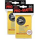 Ultra Pro Pro-Matte (100Count) Yellow Deck Protector Sleeves - Magic The Gathering