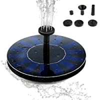Tabpole Solar Power Fountain Pump, Solar Powered Bird Bath Free Standing Water Pump Panel Kit Artificial Outdoor Fountain Watering Floating Pump for Pond, Pool, Fish Tank, Garden Decoration, etc