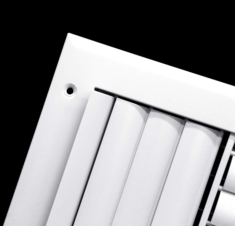 HVAC Grille HVAC Premium 10 x 10-3-Way Air Vent Maximum Air Flow Adjustable Aluminum Curved Blades
