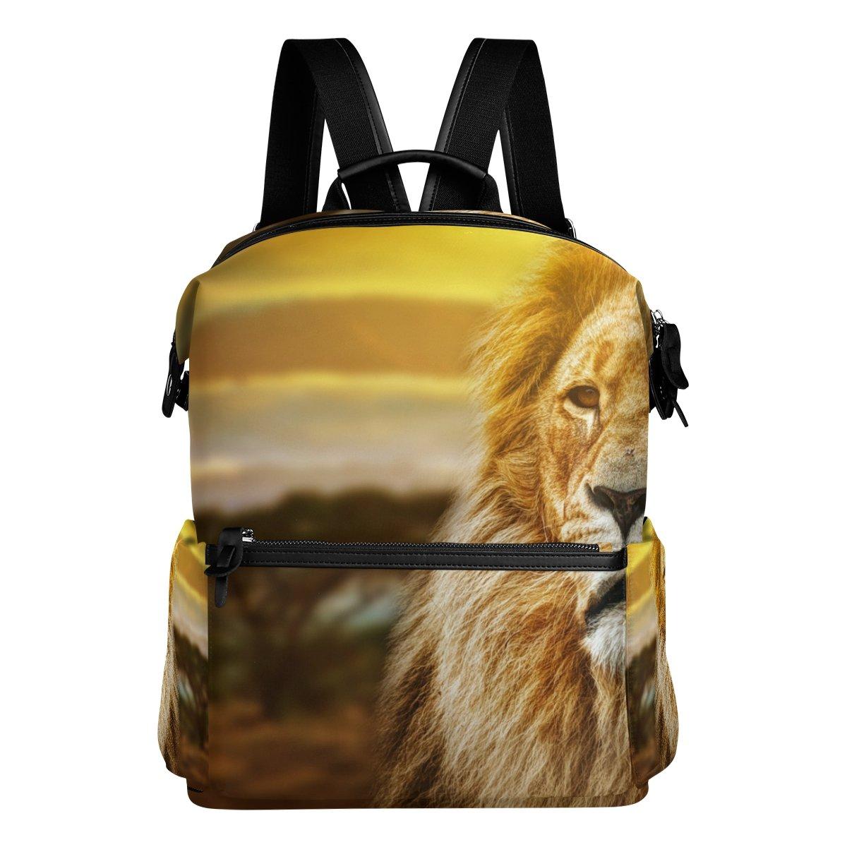 COOSUN Scuola zaino da viaggio Lion Portrait Zaino Multi