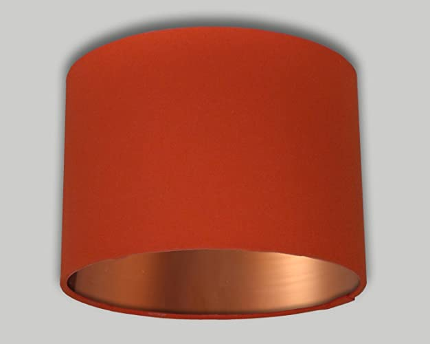 Bright orange drum lampshade brushed copper inner 20cm 25cm 30cm bright orange drum lampshade brushed copper inner 20cm 25cm 30cm 35cm 40cm 50cm 60cm 70cm lamp mozeypictures Choice Image