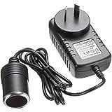 【AU Stock】 Car Power Inverters - BW AC to DC Power Socket Adapter Converter, 100~240V Mains to 12V Car Cigarette Lighter…