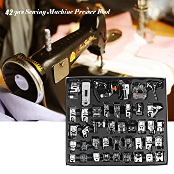 Konesky & reg; 42 Piezas de Costura de Pies - Funciona con Todas Las Máquinas de Bordado de Baja Caña Hermano Babylock Bernina Nueva Casa Janome Juki ...