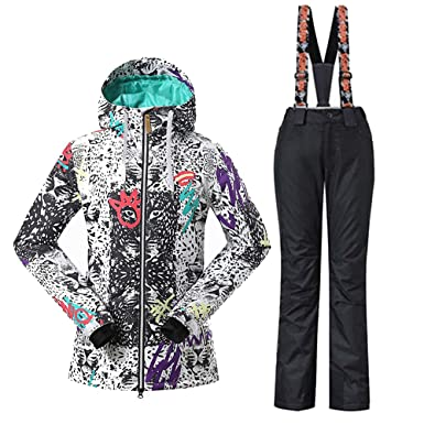 a4319bd068 Amazon.com  GS SNOWING Women s Insulated Snowboard Suit Ski Jacket ...