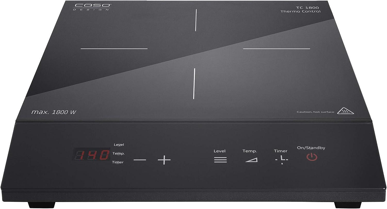 Caso Design 12223 TC 1800 Chef Thermo Control Single Induction Burner, Standard, Black