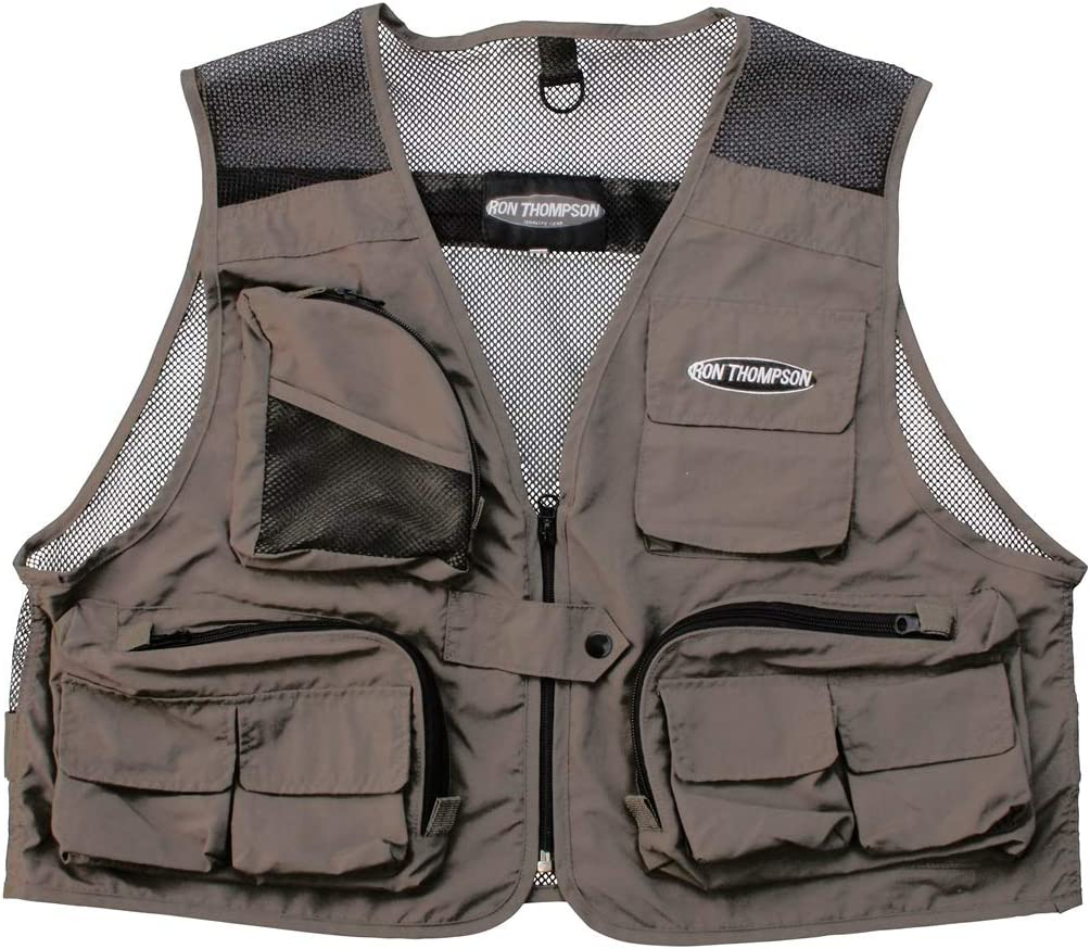 Ron Thompson Chaleco Mosca Mesh Lite Fly Vest - Brown, M ...
