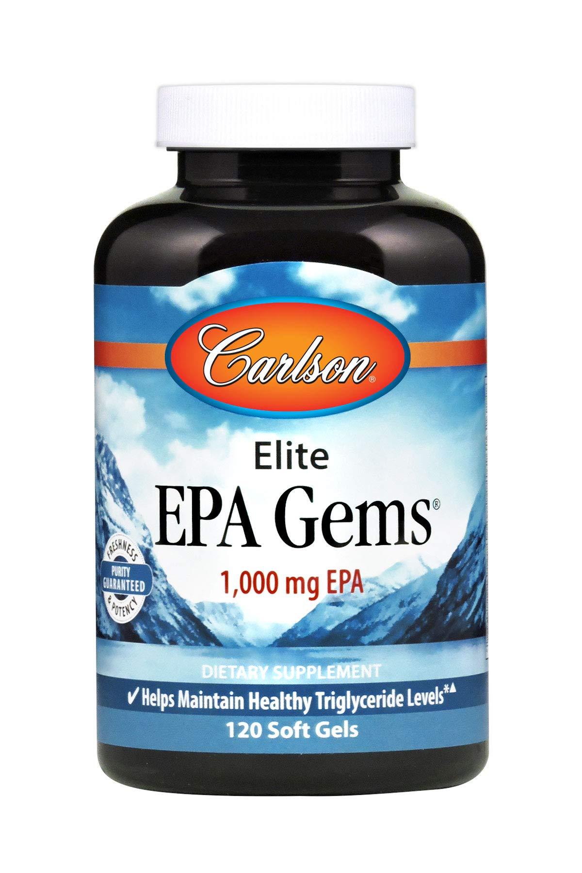 Carlson Elite EPA Gems, 1,000 mg EPA, 120 Soft Gels