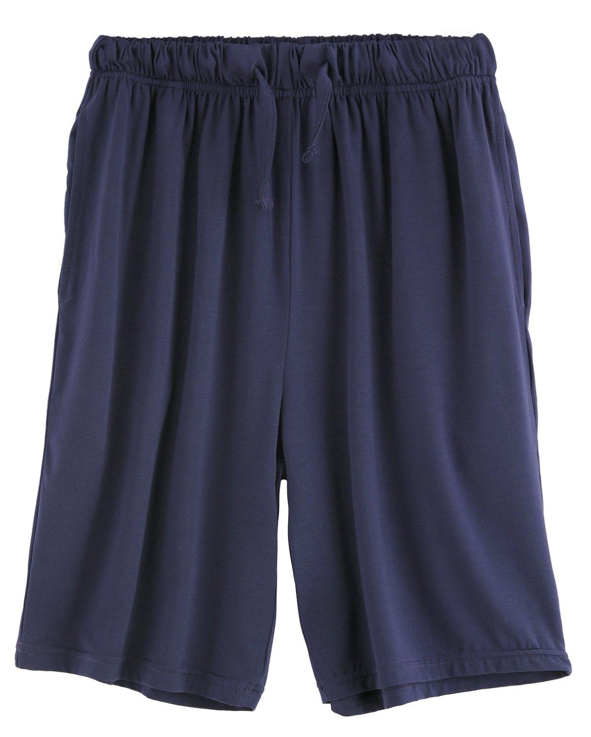 Latuza Men's Sleep Shorts Loose Lounge Shorts XXL Navy