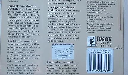 Amazon.com: Hidden Agenda by Springboard Vintage IBM/Tandy 5 ...