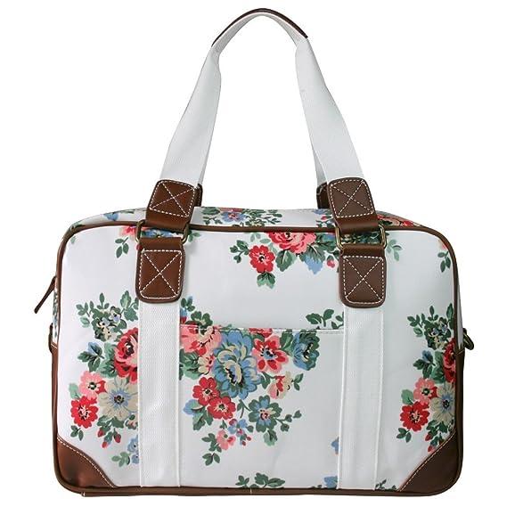 Lujo Miss Lulu hule Bags of hospital/maternidad/bolso cambiador para mamá y bebé (rojo floral mantel de hule se limpia con un paño húmedo) - Entrega GRATIS ...