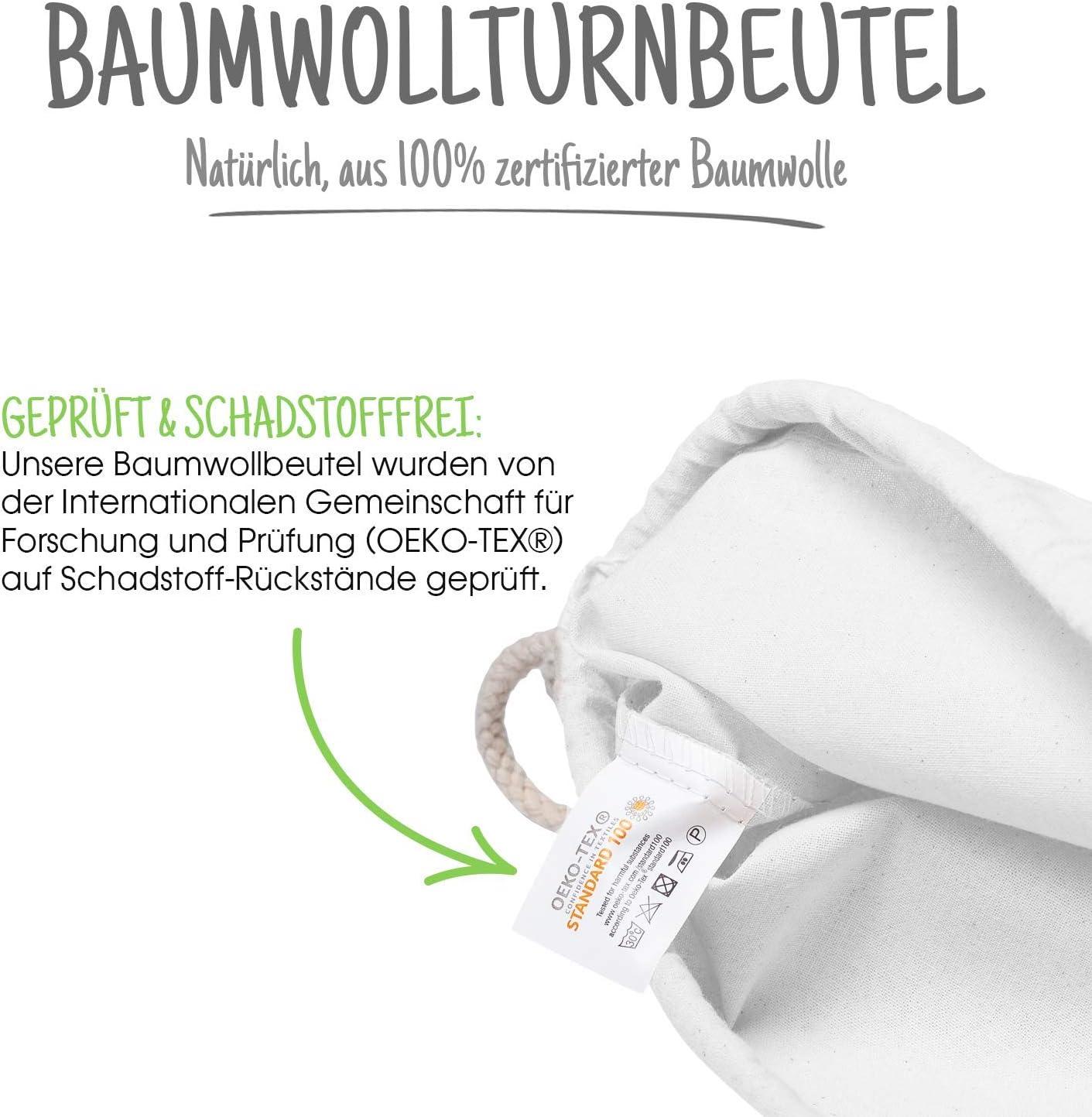 Bolsa de gimnasia de algodón 25 piezas Bolsa deportiva de 38 x 42 cm - bolsa de algodón, bolsa de yute OEKO-TEX® bolsa de tela certificada bolsa de compras Gym Sac Sack