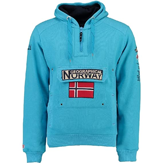 Homme Norway Geographical Sweat Longues shirt Uni Manches HYTnRHr
