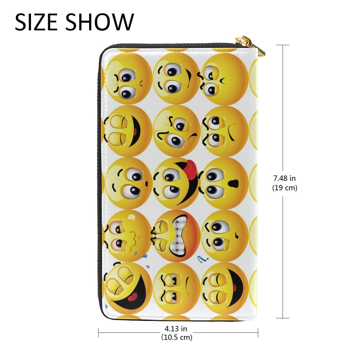 Amazon.com: Emoji Emoticon cara sonriente portafolios de ...