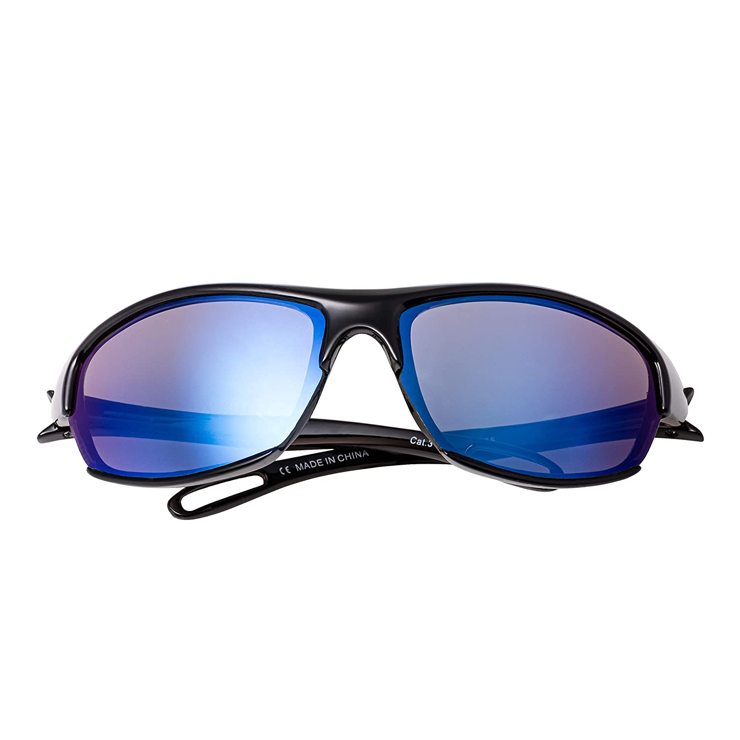b96e66bbcbcf Childrens Kids Black with Blue Lenses Wraparound high quality Sunglasses  UV400 UVA UVB Protection Shades: Amazon.co.uk: Clothing