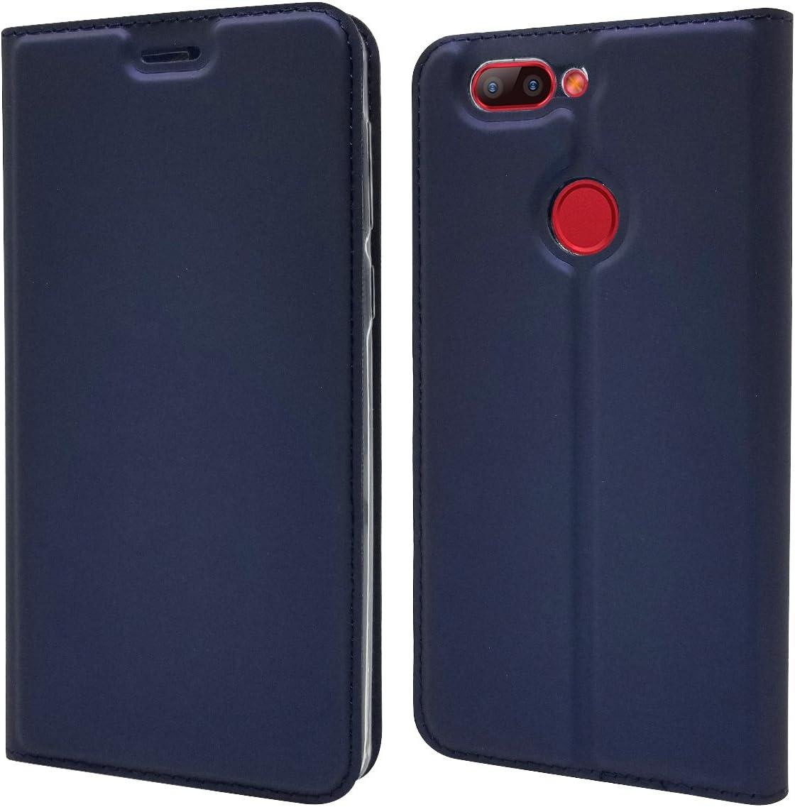 Funda® Ultra Delgado PU TPU Flip Folio Ranura y la Función Stand para Tarjeta para Elephone P8 Mini(Azul Oscuro): Amazon.es: Electrónica