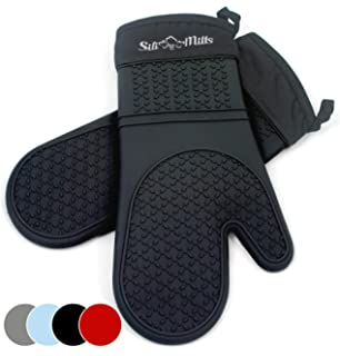 Amazon.com: Homwe Silicone Oven Mitts and Potholders (4 ...