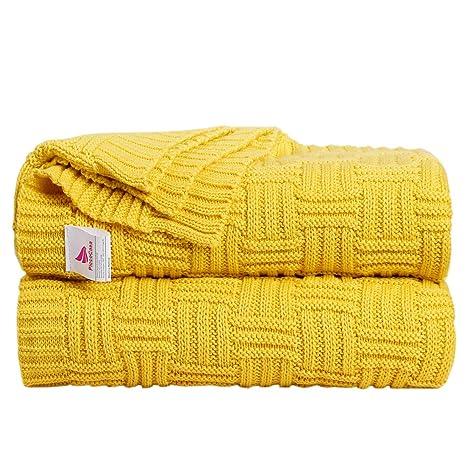 Amazon.com: Manta de punto uxcell para sofá y sofá, suave ...