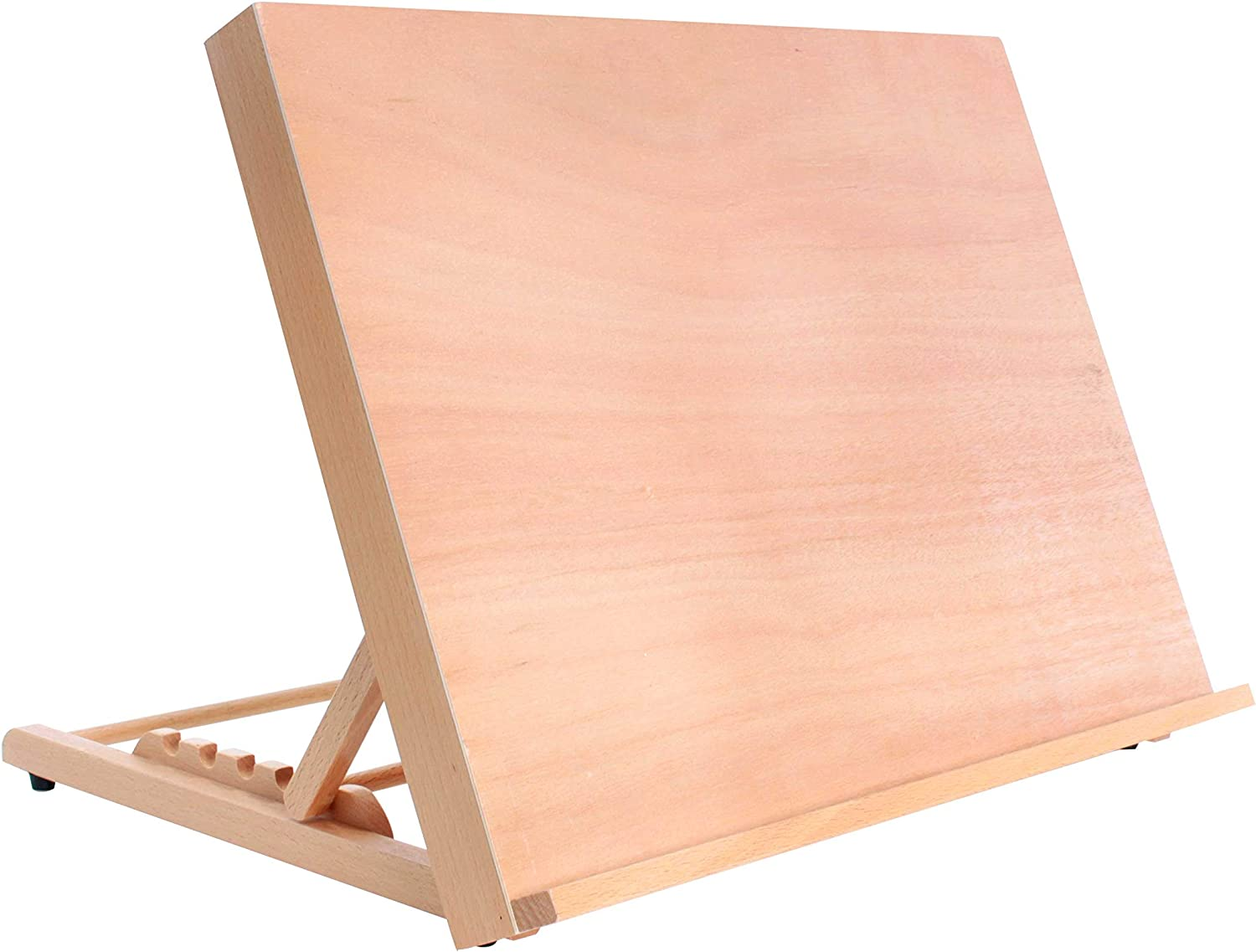 "U.S. Art Supply Large 18-1/2"" Wide x 14-1/8"" (A3) Tall Artist Adjustable Wood Drawing Board"