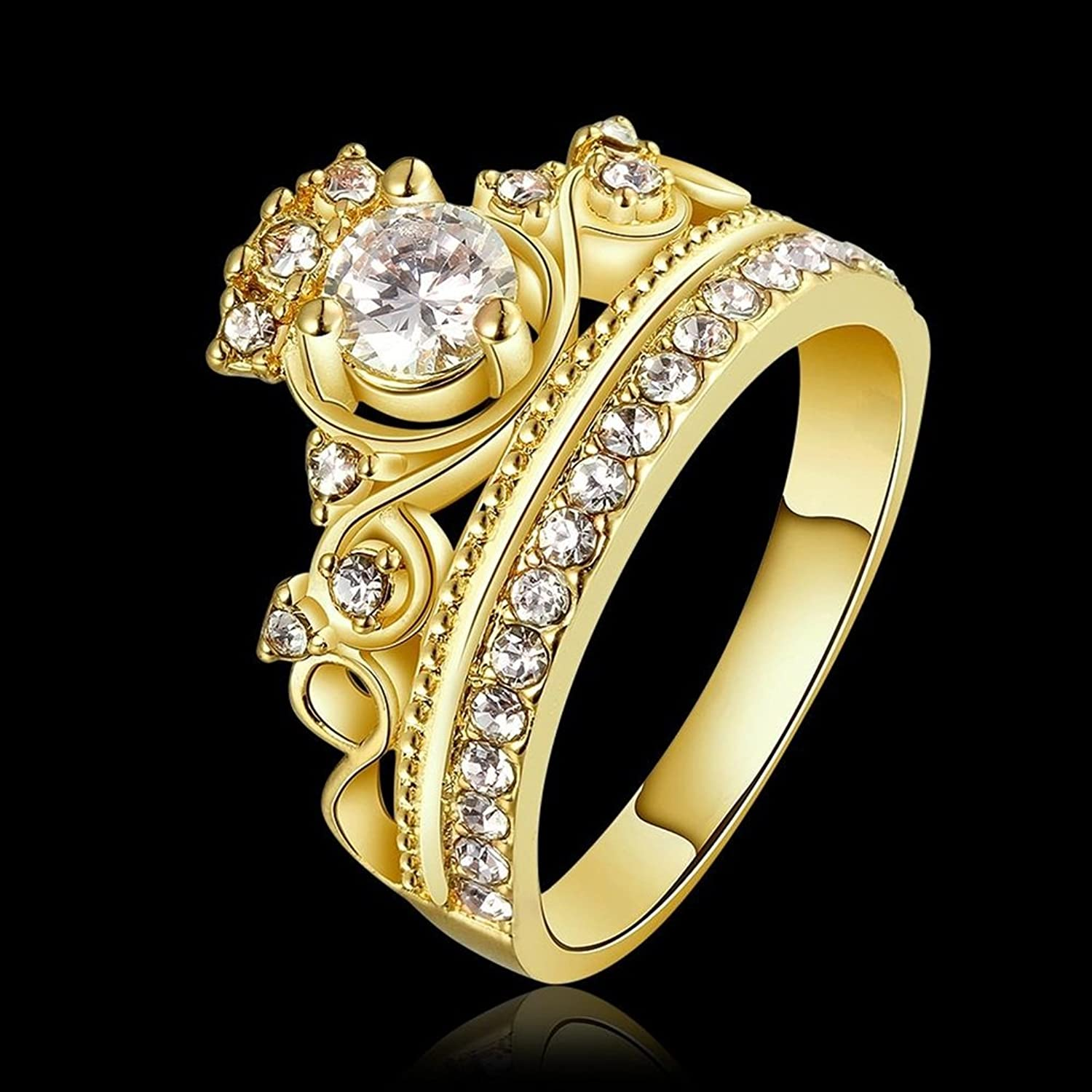 Amazoncom Moandy Jewelry Rings 18K Gold Plated Cubic Zirconia